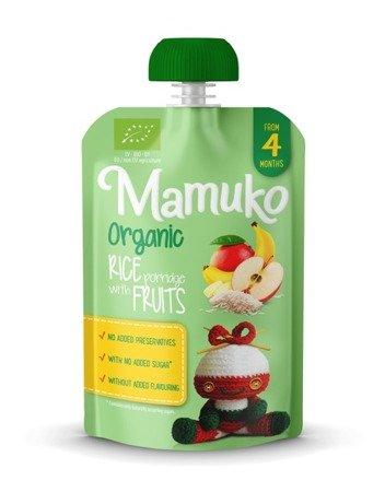 MAMUKO Deser mleczno-ryżowy BIO banan mango jabłko