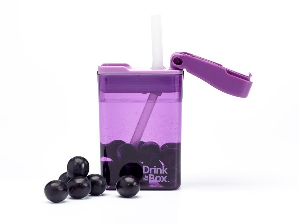 DRINK IN THE BOX MODERN Bidon ze słomką PURPLE 240 ml