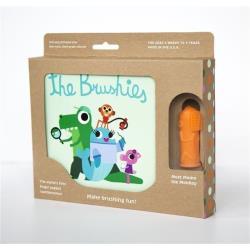 THE BRUSHIES Szczoteczka silikonowa Małpka MOMO z książeczką PL