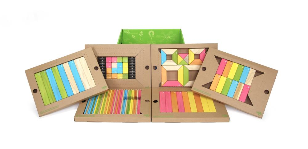TEGU Drewniane klocki magnetyczne CLASSICS zestaw 130 Tints