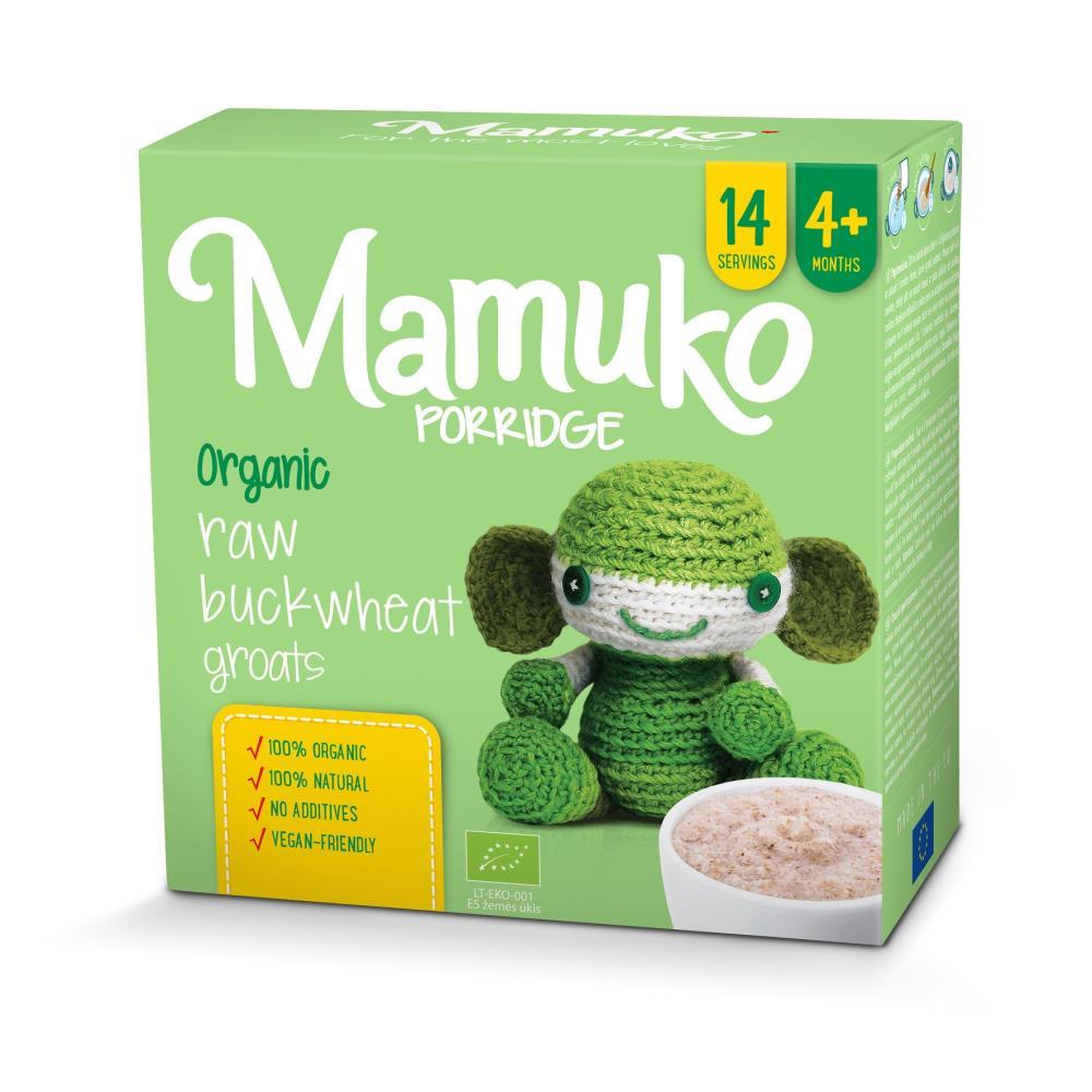MAMUKO Organiczna kaszka z jasnej gryki 4m+