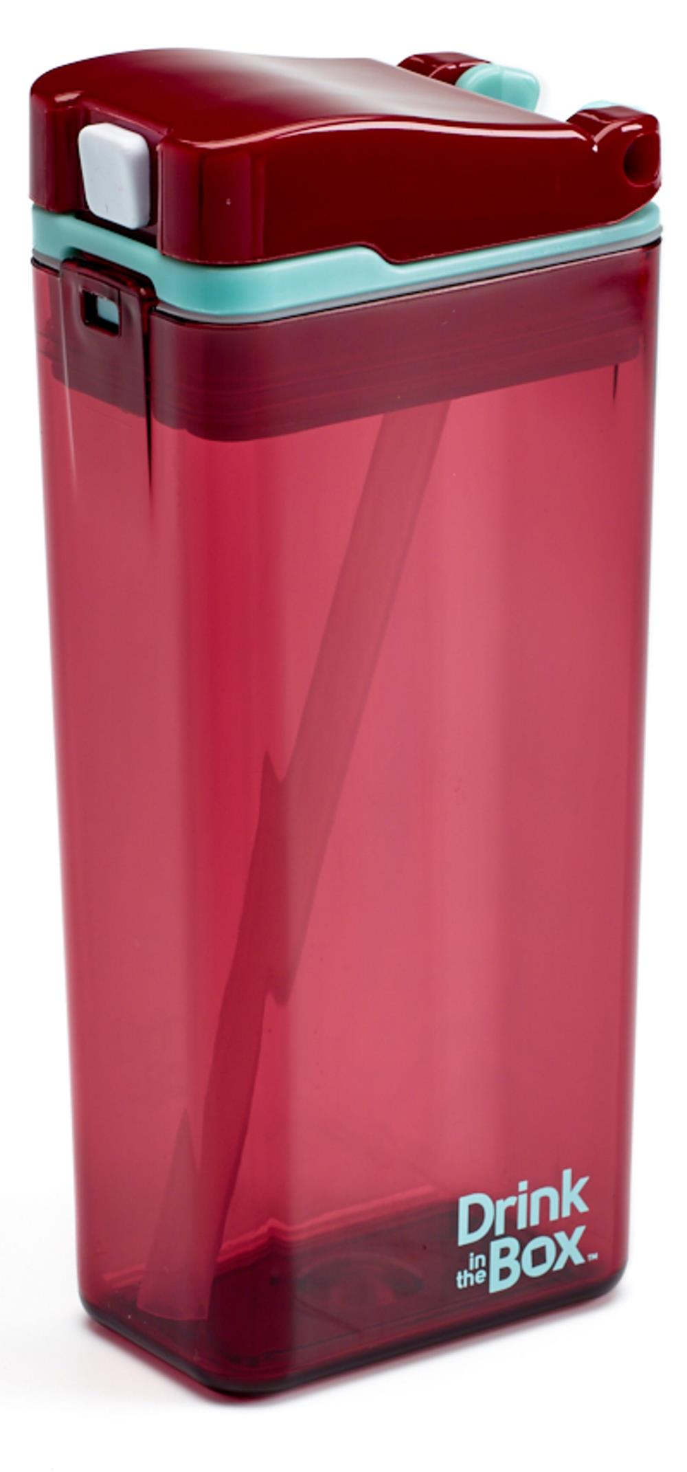 DRINK IN THE BOX MODERN Bidon ze słomką MALINOWY 350 ml