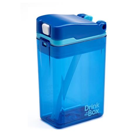 DRINK IN THE BOX MODERN Bidon ze słomką BLUE 240 ml