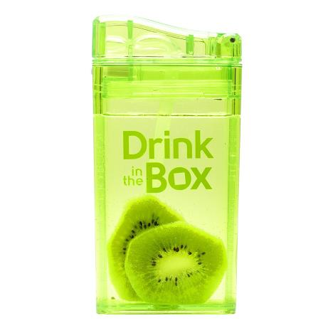 DRINK IN THE BOX CLASSIC Bidon ze słomką GREEN 240 ml