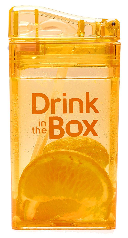 DRINK IN THE BOX CLASSIC Bidon ze słomką ORANGE 240 ml