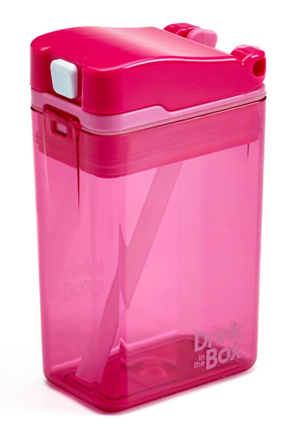 DRINK IN THE BOX MODERN Bidon ze słomką PINK 240 ml
