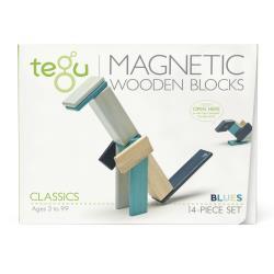 TEGU Drewniane klocki magnetyczne CLASSICS zestaw 14szt Blues
